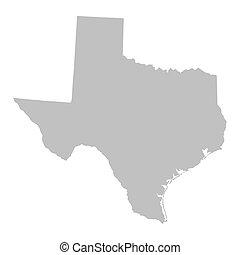 carte, gris, texas