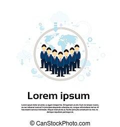 carte, groupe, business, sur, businesspeople, international, équipe, mondiale