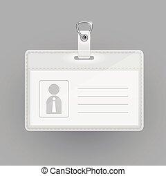 carte identification, gabarit, vide