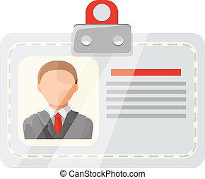 carte, identification, vecteur, ic, plat