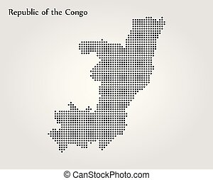 carte, illustration., congo., vecteur, république, mondiale