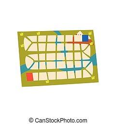 carte, illustration, jeu, vecteur, planche, fond, blanc