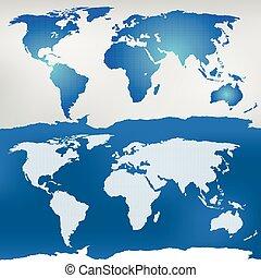 carte, illustration, mondiale