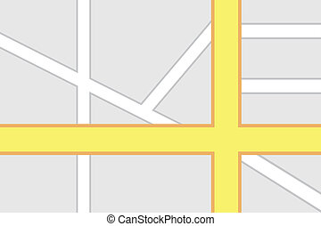 carte, intersection, route