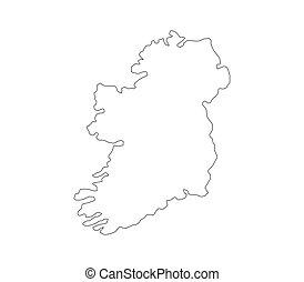 Carte Irlande Simple.Carte Irlande Simple Carte Ireland 3d