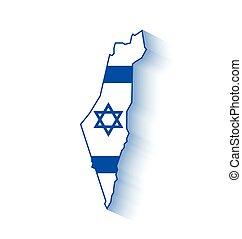carte, israël