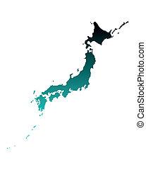 carte, japon