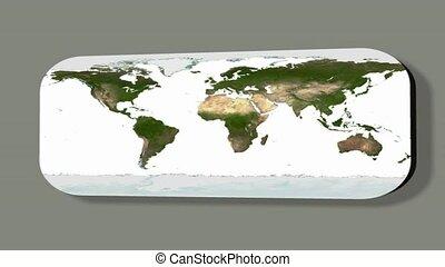 carte, la terre