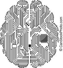 carte mère, cerveau