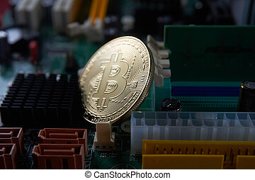 carte mère, informatique, bitcoin