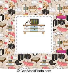 carte, meubles