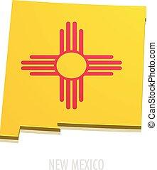 carte, mexique, nouveau