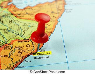 carte, mogadishu, somalie, afrique