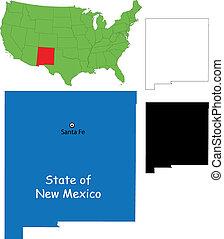 carte nouveau-mexique