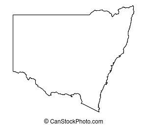 carte, nouveau pays galles sud