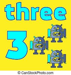 carte, number., mathematics., education., vecteur, illustration., worksheet, pour, gosses
