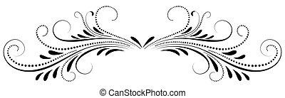 carte, ornement, blanc, salutation, symétrique, fond, isolé,...