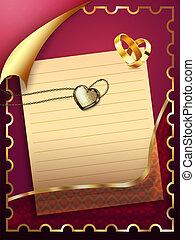 carte papier, mariage
