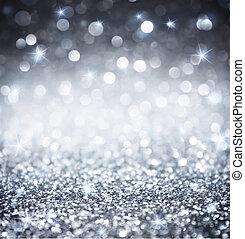carte parati, -, brillare, argento, baluginante