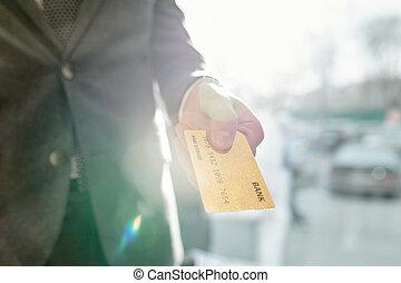 carte, payant, crédit