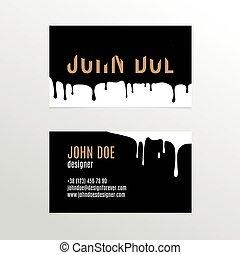 carte, peinture, business, conception