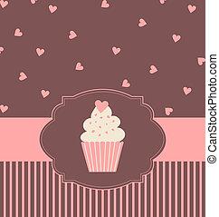 carte, petit gâteau