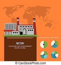 carte, plante, vecteur, graphique, usine, infographic, la terre, icon.