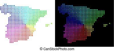 carte, point, spectre, espagne