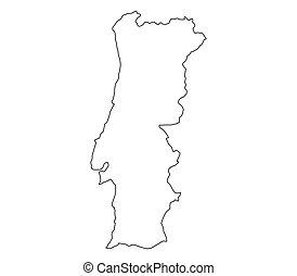 Carte portugal carte gray portugal pays mis - Dessin du portugal ...
