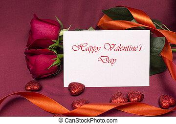 carte postale, heureux, valentine, day.