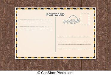carte postale, illustration, vide