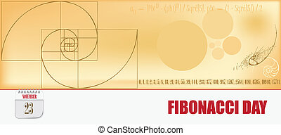 carte postale, jour, fibonacci