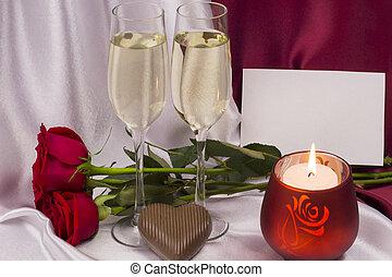 carte postale, jour, valentine