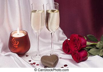 carte postale, pour, valentine, day.