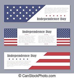 carte postale, salutation, jour américain indépendance, carte