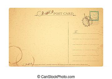 carte postale, statue, liberté