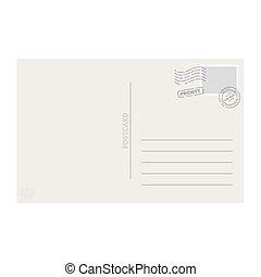 carte postale, vecteur, gabarit