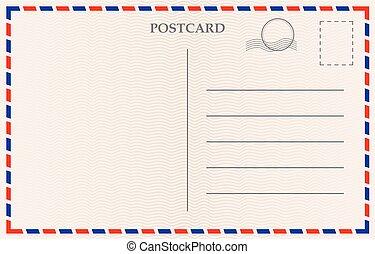 carte postale, vecteur, papier, texture