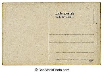 carte postale, vendange, britannique
