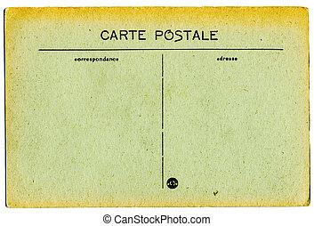 carte postale, vendange, francais