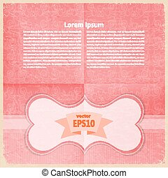 carte postale, vendange, grunge, espace