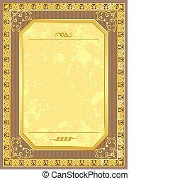 carte postale, vendange, vecteur