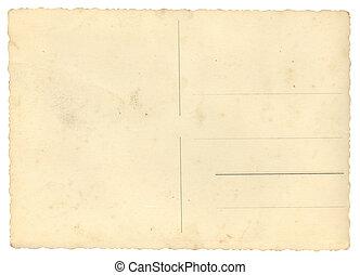 carte postale, vide