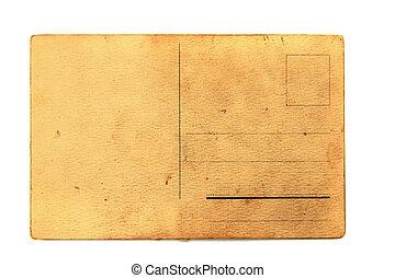 carte postale, vieux, vide