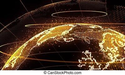 carte, réseau, global, point, connexion, mondiale, ligne, composition