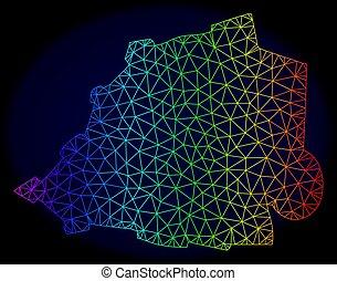 carte, réseau, spectre, maille, polygonal, vecteur, vatican