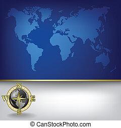 carte, résumé, fond, business, la terre