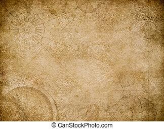 carte, résumé, vieux, fond, vendange
