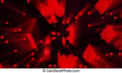 carte, rayons, argent, procès, boucle, fond, lumière, rouges