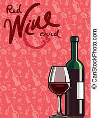 carte rouge, vin